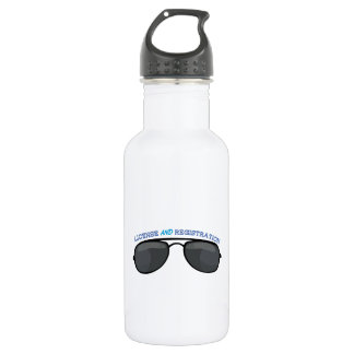 License And Registration 532 Ml Water Bottle