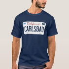 License Plate Carlsbad California T Shirt
