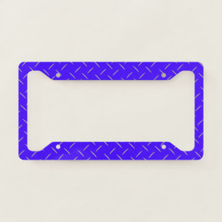 License Plate Frame - Stamped Steel Electric Blue
