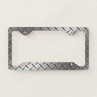 License Plate Frame - Stamped Steel Silver