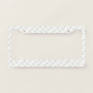 License Plate Frame - Stamped Steel White