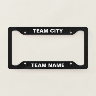 License Plate Frame - Your Team