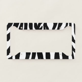 License Plate Frame - Zebra