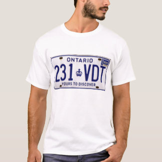 license plate ont T-Shirt