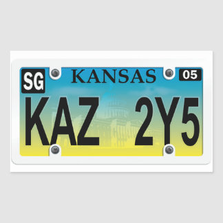 how to put sticker on license plate