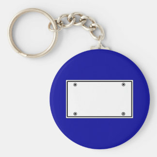 License plate template key ring