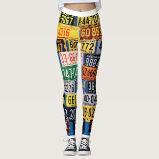 License Plates Leggings