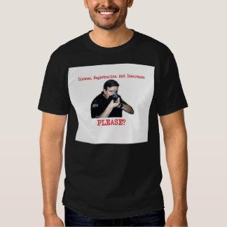 License Registration Dark Shirt Male