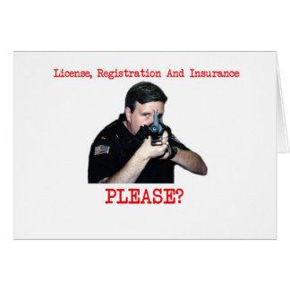 License Registration Greeting Card H