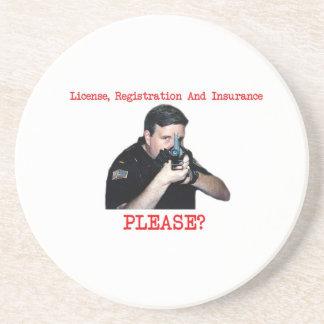 License, Registration & Insurance Coaster