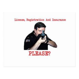 License Registration Postcard H
