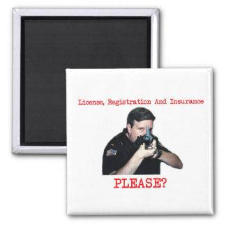 License Registration Square Magnet