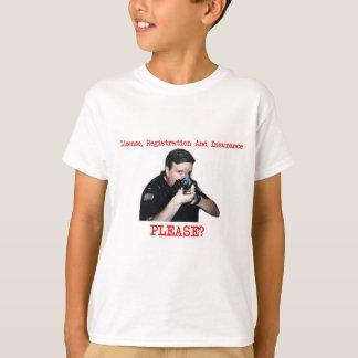 License Registration White Shirt Kids