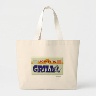 License To Grill Jumbo Tote Bag