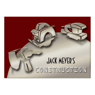 Licensed Contractor Construction Business Tools Pack Of Chubby Business Cards