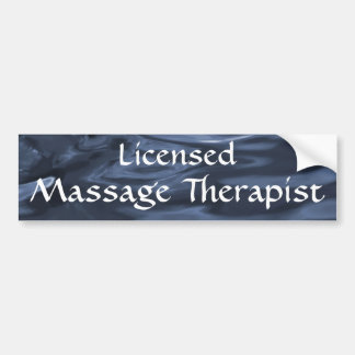 Licensed Massage Therapist 2 (blue) Bumper Sticker