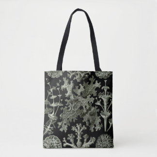 Lichen by Ernst Haeckel, Vintage Nature Plants Tote Bag
