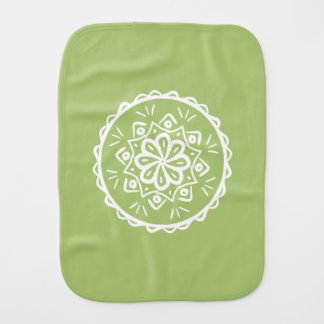 Lichen Mandala Burp Cloth