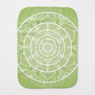 Lichen Mandala Burp Cloth