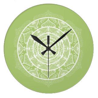 Lichen Mandala Large Clock