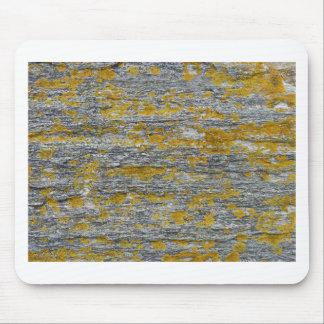 lichens on granite stone mouse pad
