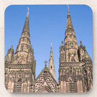 Lichfield Cathedral, Staffordshire souvenir photo Coaster