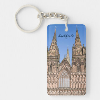 Lichfield Cathedral, Staffordshire souvenir photo Key Ring