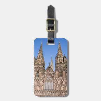 Lichfield Cathedral, Staffordshire souvenir photo Luggage Tag