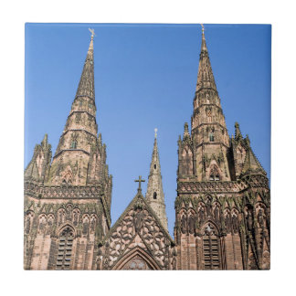 Lichfield Cathedral, Staffordshire souvenir photo Tile