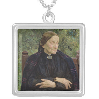 Lichtwark's Mother, 1908 Silver Plated Necklace