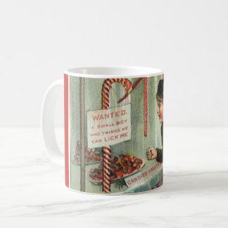 Lick Me Candy Cane Humor Vintage Christmas Joke Coffee Mug