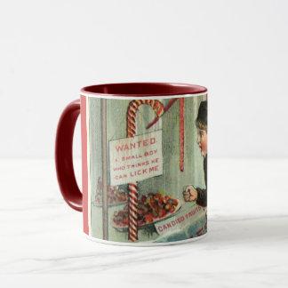Lick Me Candy Cane Humor Vintage Christmas Joke Mug