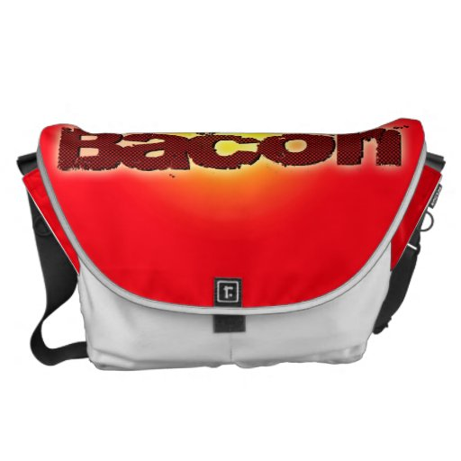 Lick My Bacon on Red Courier Bags