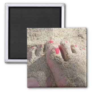 LICK THE SAND OFF MY FEET SQUARE MAGNET