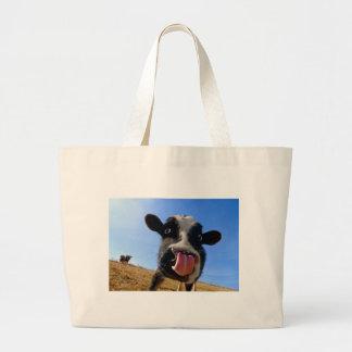 Lickin' cow jumbo tote bag