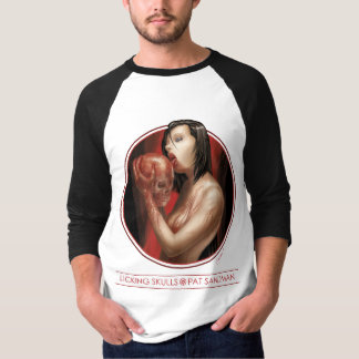 Licking Skulls 3/4 Jersey T-Shirt