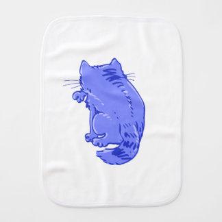 licking tabby cat sweet cartoon baby burp cloth