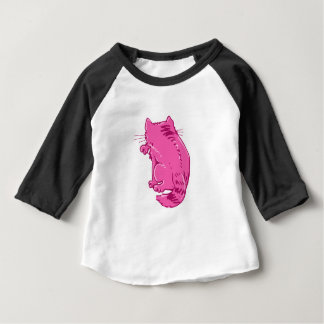 licking tabby cat sweet cartoon baby T-Shirt