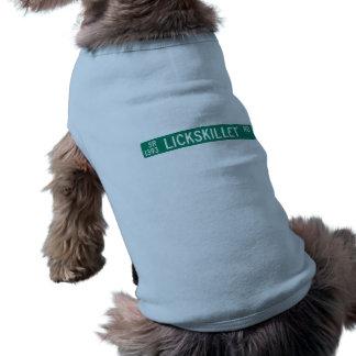 Lickskillet Road, Street Sign, North Carolina, US Doggie Tee Shirt