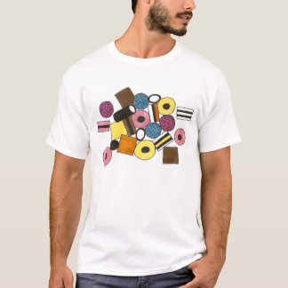 Licorice Allsorts All Sorts Candy Candies Food Tee