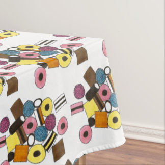 Licorice Allsorts All Sorts Candy Shoppe Sweets Tablecloth