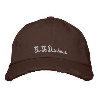 Lid, Ya-Ya Dutchess Embroidered Hat