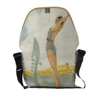 Lido di Venezia Vintage Italian Vacation Messenger Bag