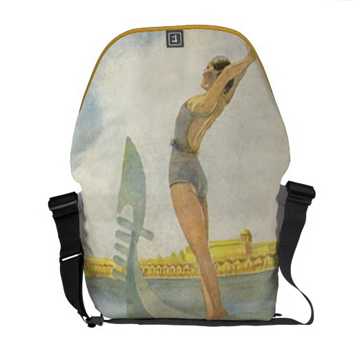 Lido di Venezia Vintage Italian Vacation Courier Bags