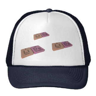 Lids as Li Lithium and Ds Darmstadtium Mesh Hats