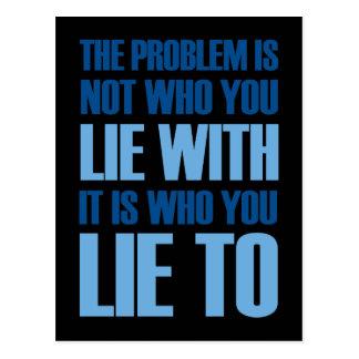 Lie WIth Lie To Postcard