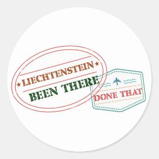 Liechtenstein Been There Done That Classic Round Sticker