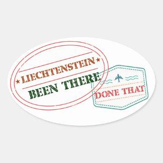 Liechtenstein Been There Done That Oval Sticker