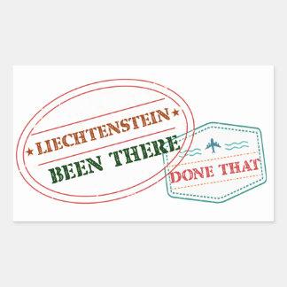 Liechtenstein Been There Done That Rectangular Sticker
