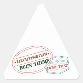Liechtenstein Been There Done That Triangle Sticker
